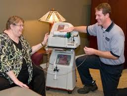 Home oxygen therapy with Homefill system